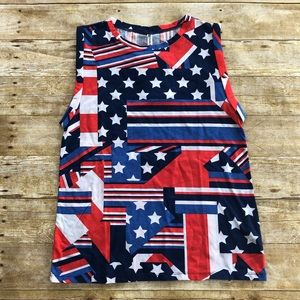 Fabletics Red White and Blue McKinney Tee